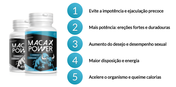 beneficios do maca x power