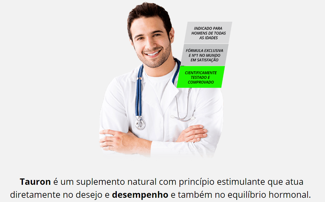 medico explicando beneficios do tauron