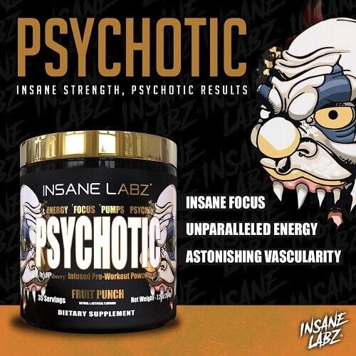 Benefícios do pré treino psychotic gold