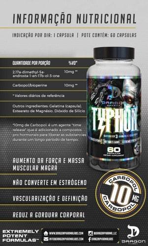 Pró-Hormonal Typhon da Dragon Pharma